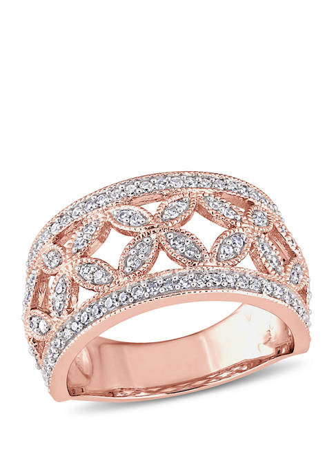 Belk & Co. Diamond Floral Anniversary Band in