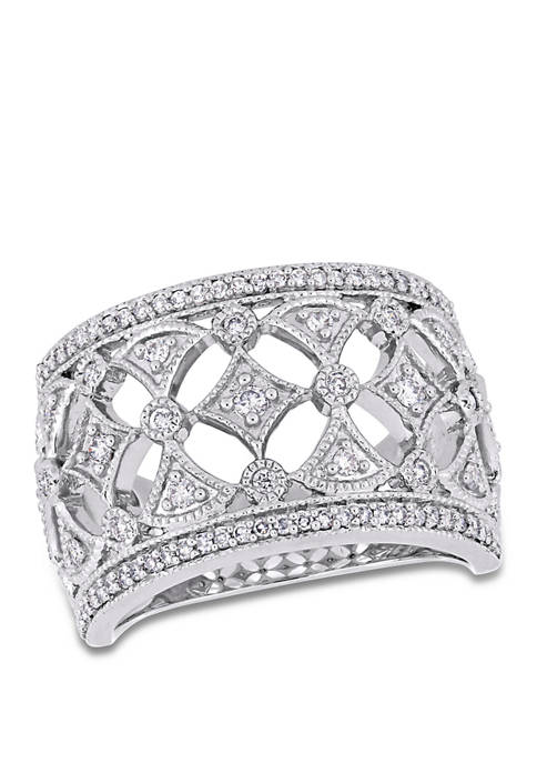 Diamond Multi-Shape Anniversary Ring in 10K White Gold