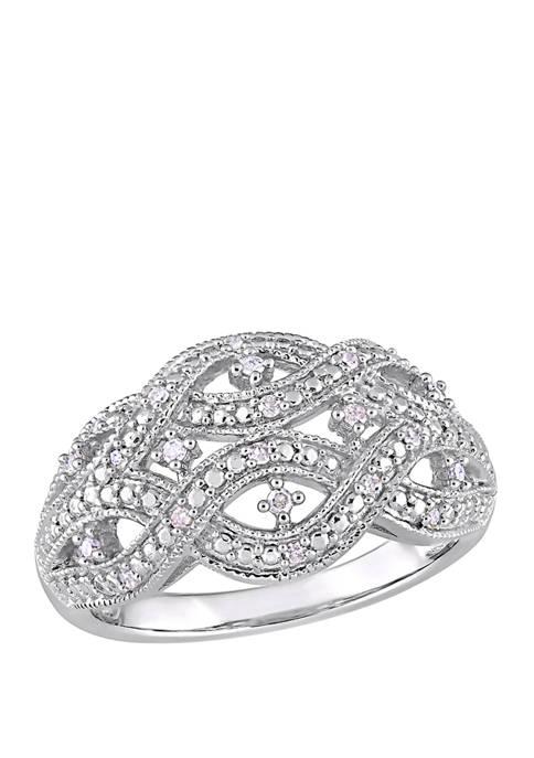 Belk & Co. Diamond Infinity Ring in Sterling