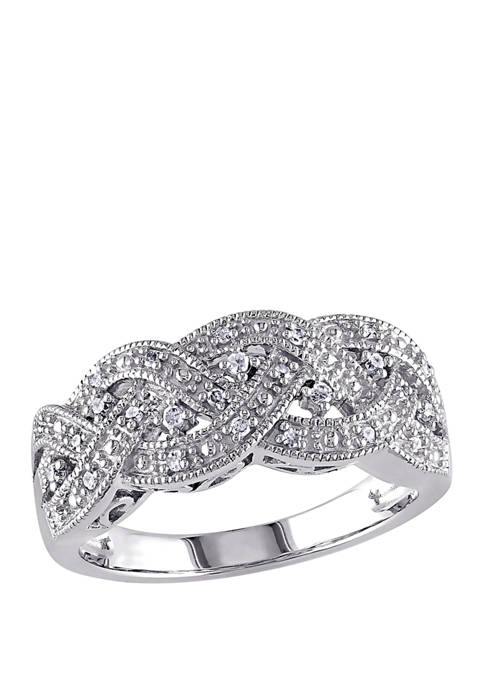 Belk & Co. Diamond Braided Ring in Sterling
