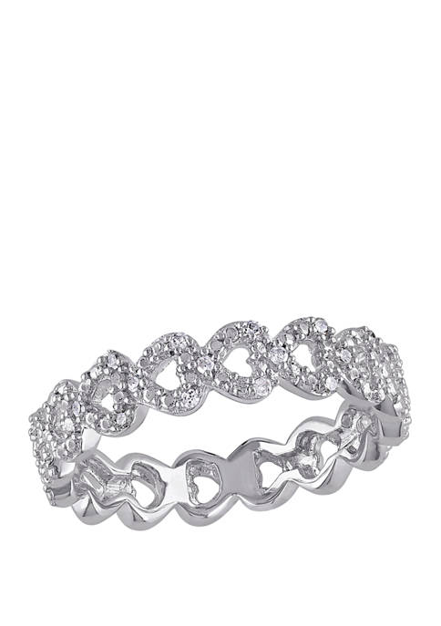 Belk & Co. Diamond Accent Heart Link Ring