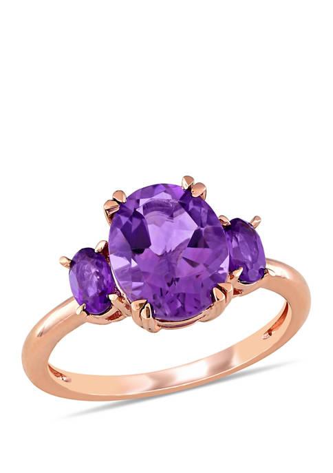 Belk & Co. Amethyst 3 Stone Ring