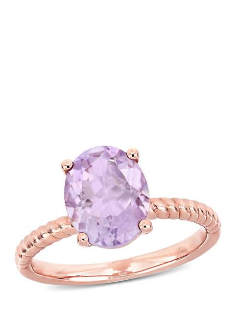 Pink Amethyst Twist Ring