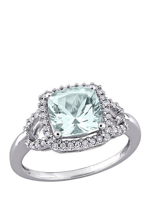 Belk & Co. 2.15 Aquamarine and 1/6 ct.