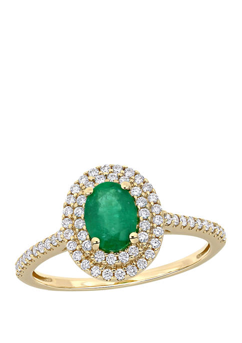 Belk & Co. 3/4 ct. t.w Emerald and