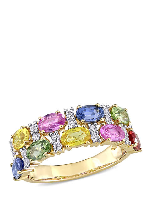 Belk & Co. 3 ct. t.w. Multi-Color Sapphire