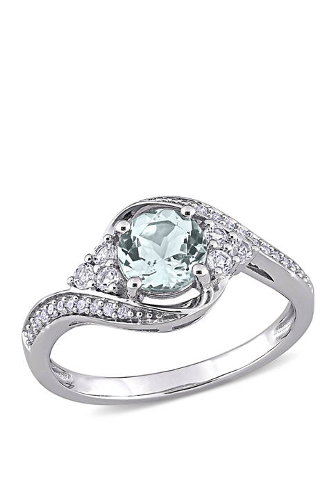 Belk & Co. 3/4 ct. t.w. Aquamarine, 1/4