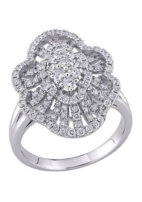 Belk & Co. 1.1 ct. t.w. Diamond Floral