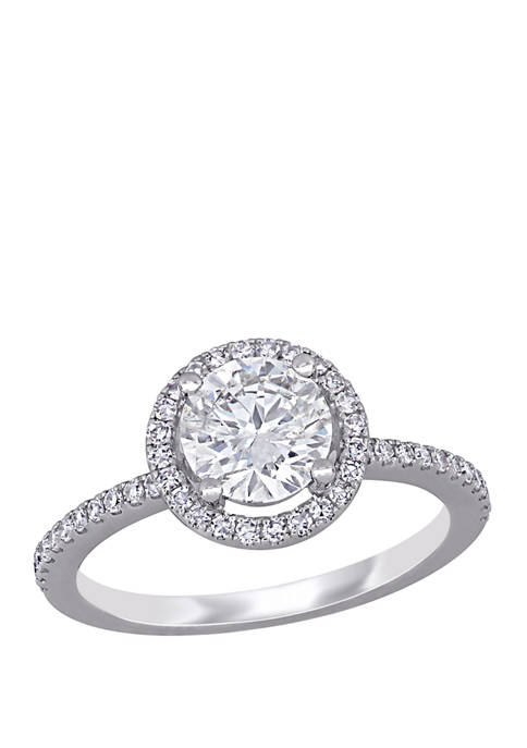 1.4 ct. t.w. Diamond Halo Engagement Ring in 14K White Gold