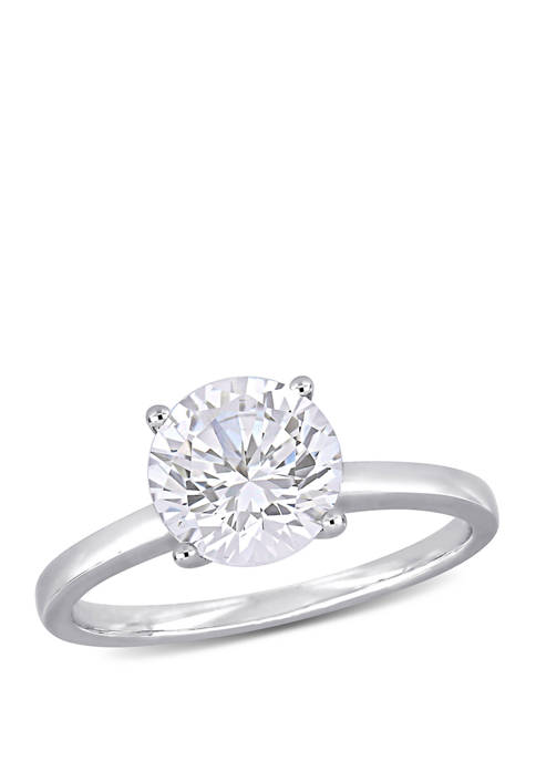2.3 ct. t.w. Lab Created White Sapphire Solitaire Engagement Ring in 10K White Gold