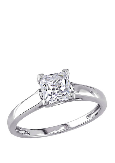 1 ct. t.w. Lab Created White Sapphire Solitaire Engagement Ring in 10K White Gold