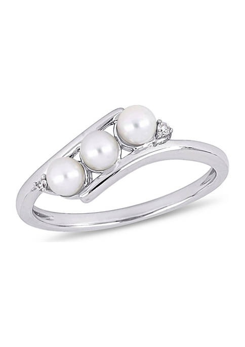 Belk & Co. Cultured Freshwater Pearl and Diamond