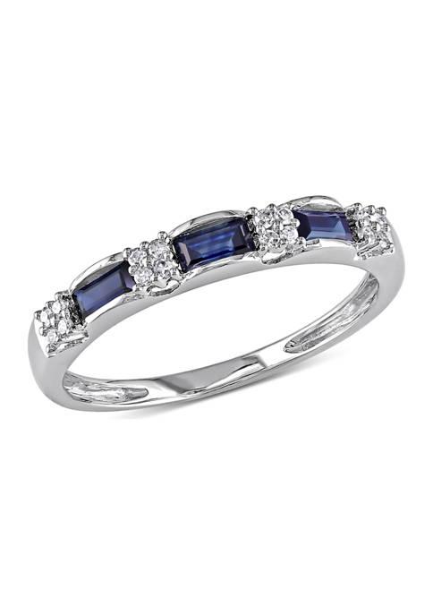 Belk & Co. Diamond and Sapphire Eternity Ring