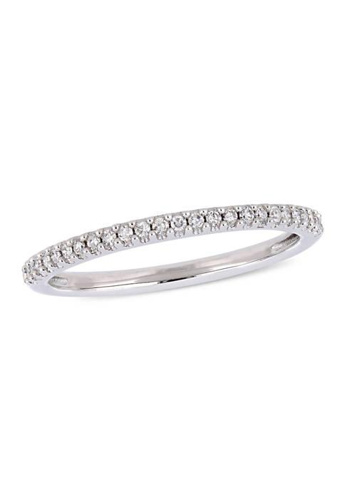 1/8 ct. t.w. Diamond Wedding Band in 14K White Gold