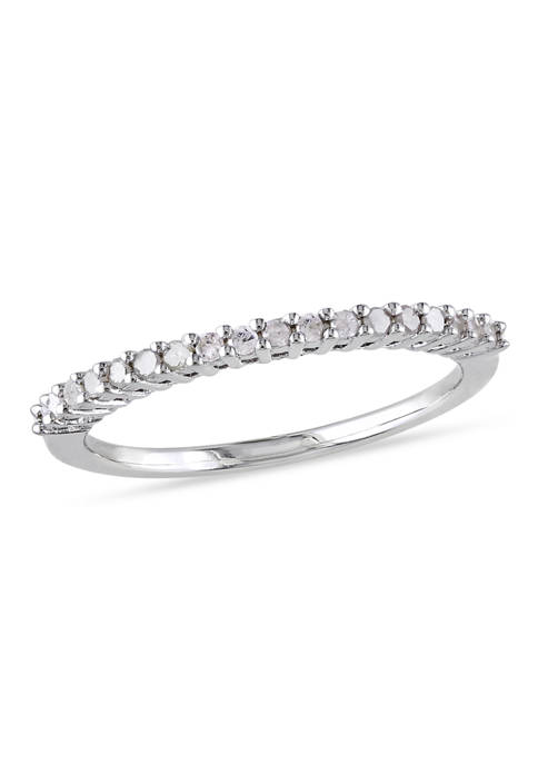 1/5 ct. t.w. Diamond Anniversary Band in Sterling Silver