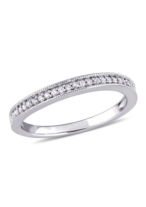 1/8 ct. t.w. Diamond Wedding Band in Sterling Silver