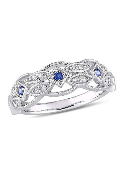 Belk & Co. 1/8 ct. t.w. Sapphire and