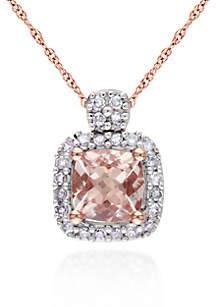 10k Rose Gold Morganite Pendant