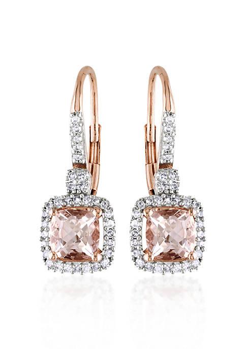 Belk & Co. 10k Rose Gold Morganite Earrings