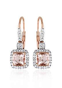10k Rose Gold Morganite Earrings