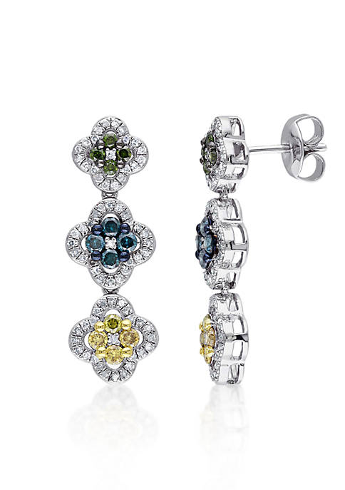 Belk & Co. Multi Color Diamond Earrings in