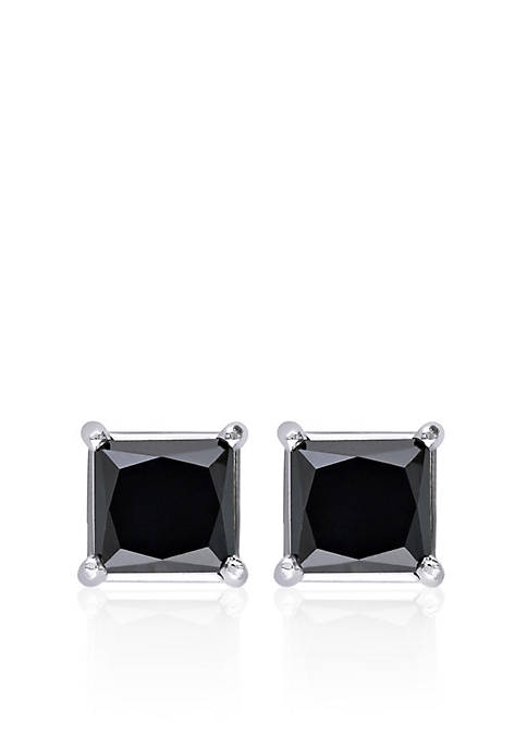 Belk & Co. Black Diamond Solitaire Earrings in