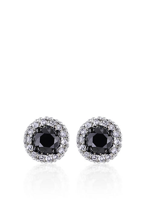 Belk & Co. Black and White Diamond Earrings