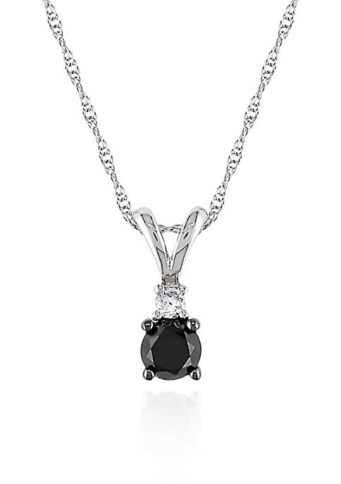 Belk & Co. Black and White Diamond Pendant