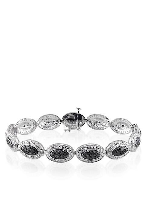 Belk & Co. Black Diamond Bracelet in Sterling