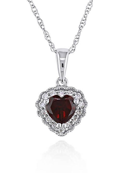 Belk & Co. 10k White Gold Garnet and
