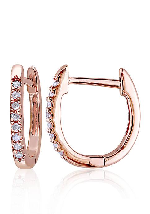 Belk & Co. Diamond Hoop Earrings in 10k