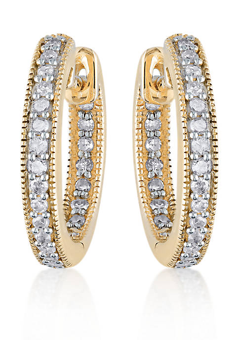 Belk & Co. Diamond Hoop Earrings in 14k