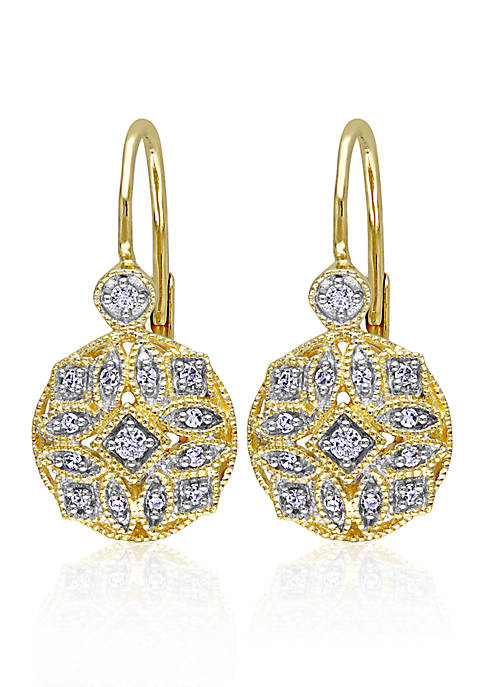 Belk & Co. Diamond Earrings in 14k Yellow