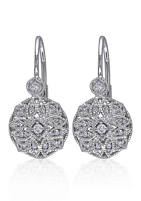 Belk & Co. Diamond Earrings in 14k White