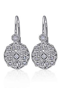 Diamond Earrings in 14k White Gold