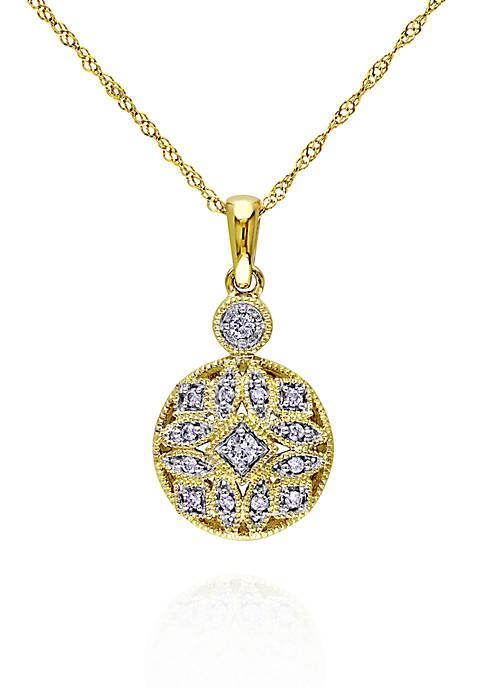 Belk & Co. Diamond Pendant in 14k Yellow
