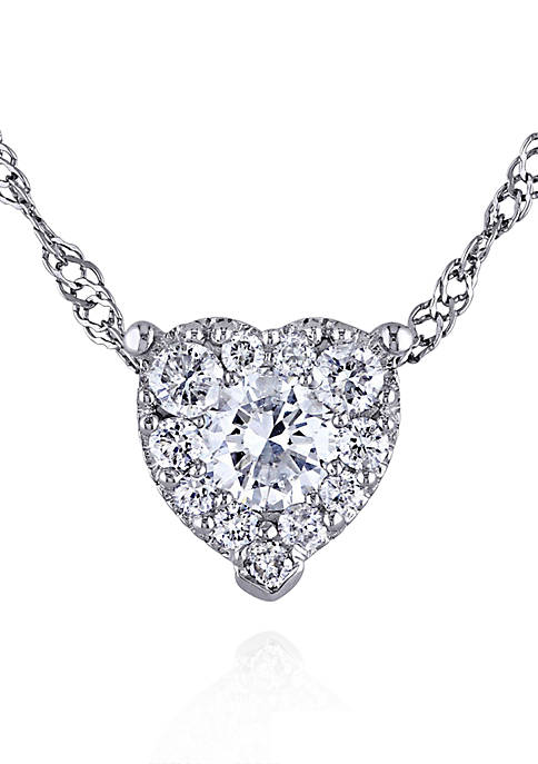 Belk & Co. Diamond Heart Pendant in 14k