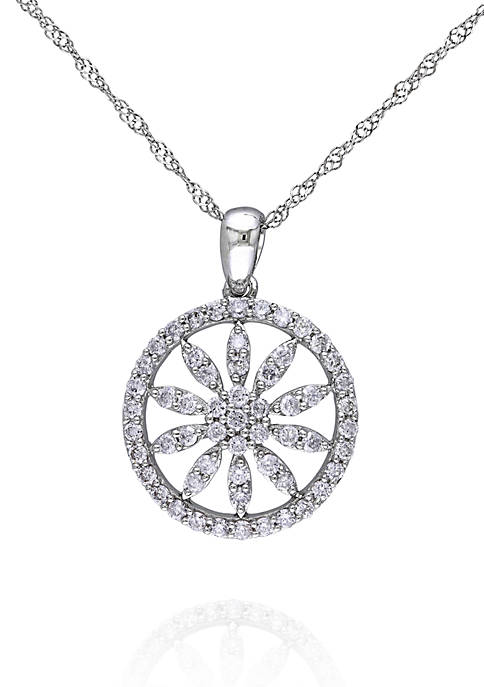 Belk & Co. Diamond Flower Pendant in 14k