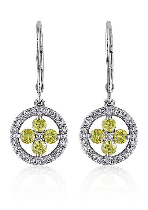 Belk & Co. Yellow and White Diamond Flower