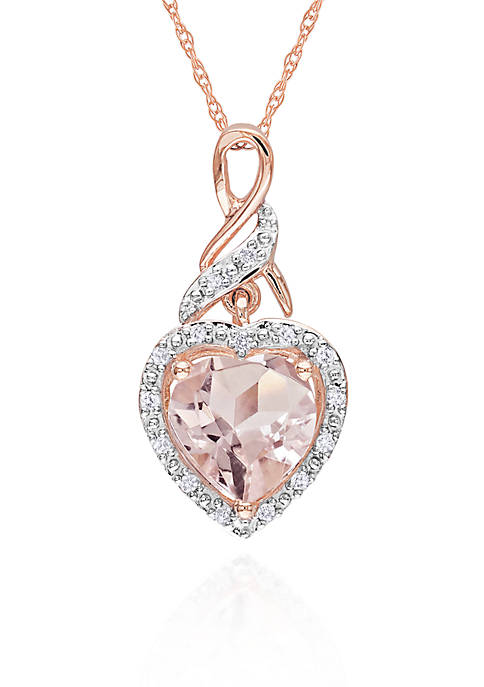 Belk & Co. 10k Rose Gold Morganite and