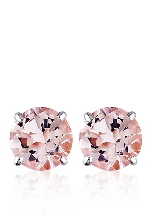 Belk & Co. 14k White Gold Morganite Stud