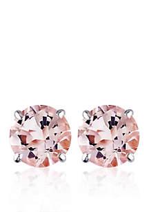 1.00 ct. t.w. Morganite Stud Earrings in 14k White Gold