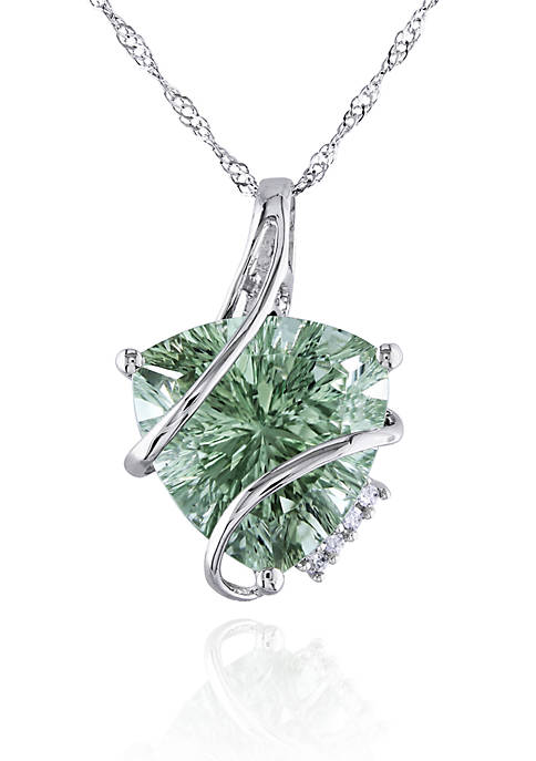 Belk & Co. 14k White Gold Green Amethyst