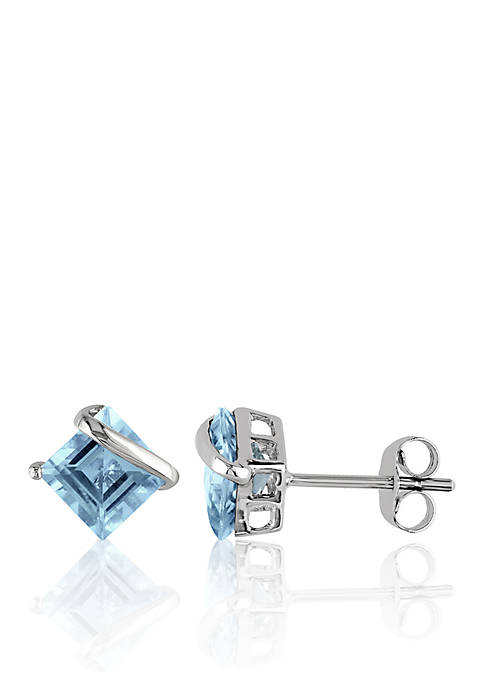 Belk & Co. 10k White Gold Topaz Earrings
