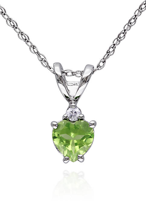 Belk & Co. 10k White Gold Peridot and
