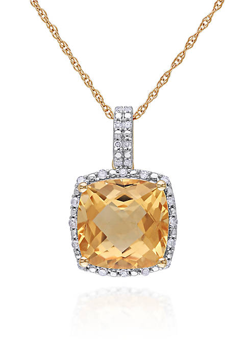 Belk & Co. 10k Yellow Gold Citrine and