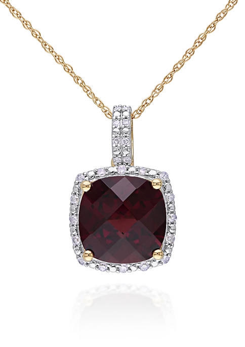 Belk & Co. 10k Yellow Gold Garnet and