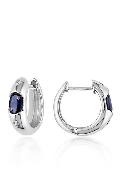 Belk & Co. 10k White Gold Sapphire and