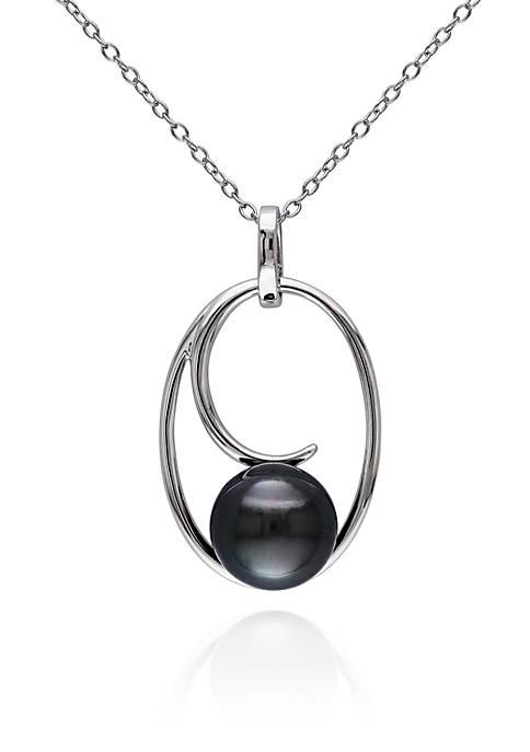 Sterling Silver Black Tahitian Pearl Pendant