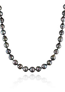 14k White Gold Tahitian Pearl Necklace